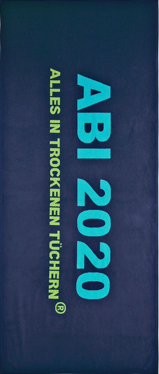 ABI Bade-/Liege-/Strandtuch dunkelblau