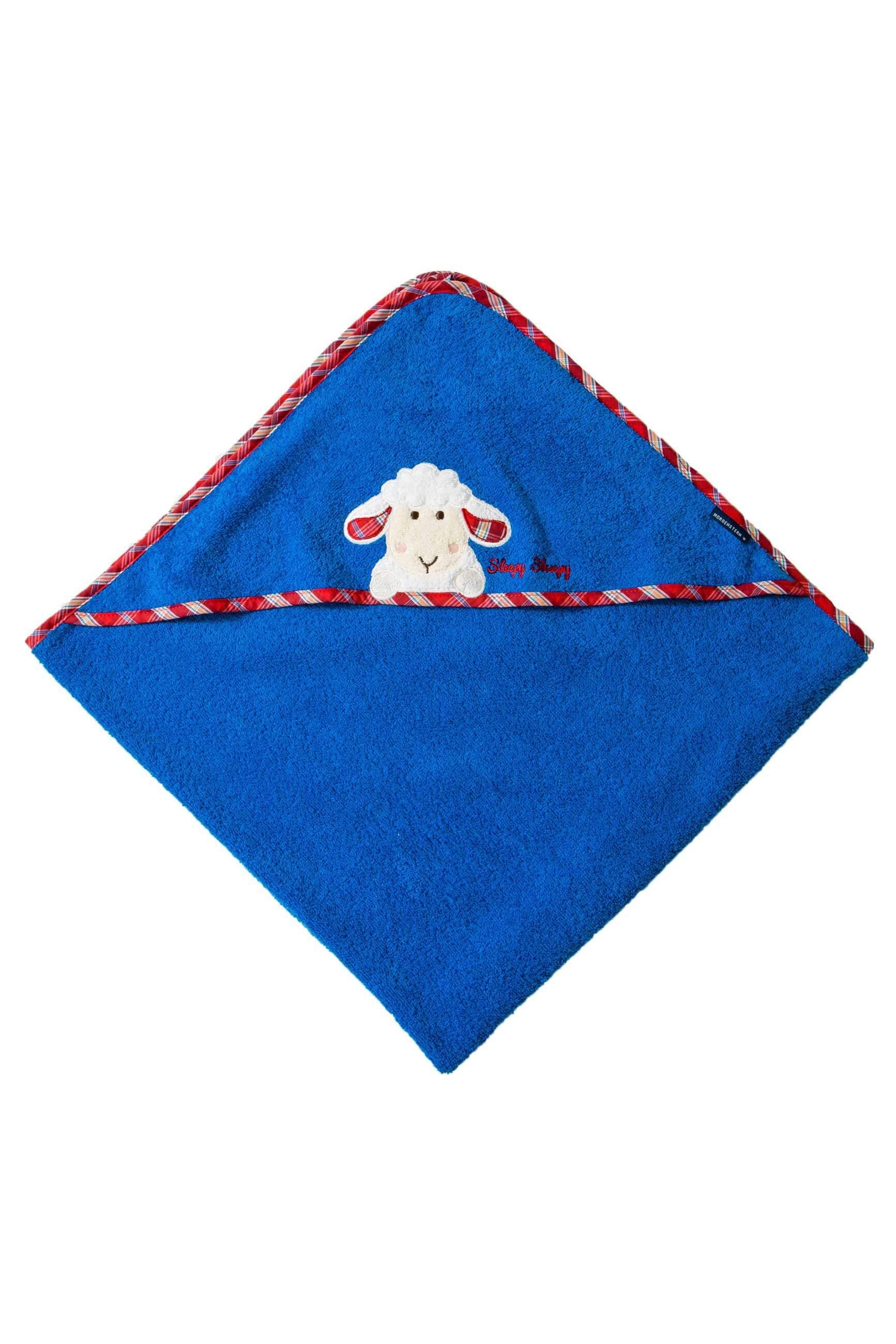 Kapuzenhandtuch Sleepy Sheepy Sweety, Morgenstern, Baumwolle, blau